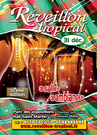 Affiche du reveillon tropical 2019
